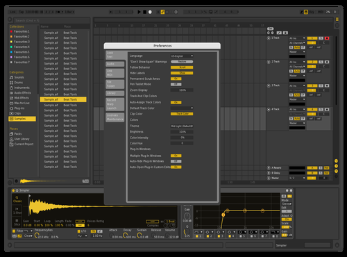 Mellow yellow Theme for Ableton 10 by Michael Dicker