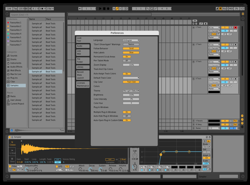LIVE10 - Long Hours Theme for Ableton 10 by Darren Davies