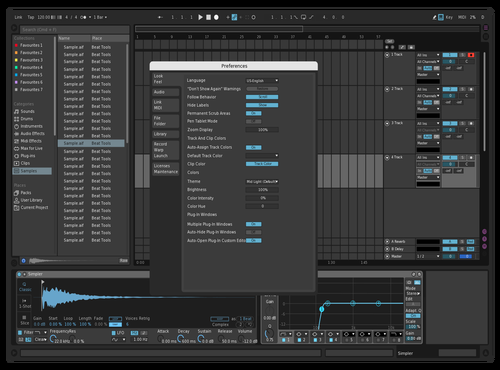 Semi contrast Theme for Ableton 10 by Morsk