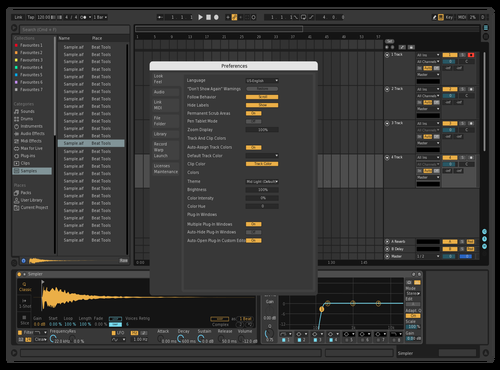 AI DARK 1 Theme for Ableton 10 by AI