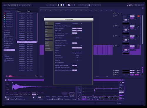 Unk edit Theme for Ableton 10 by Pter