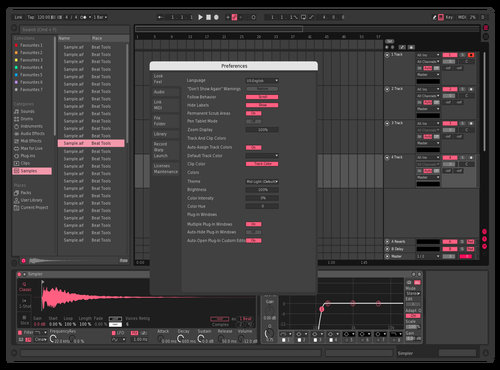Pink and Gray Theme for Ableton 10 by Alberto