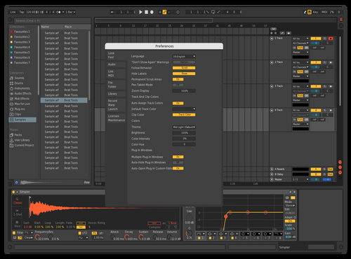 DarkOrange Theme for Ableton 10 by Tom Rippstein
