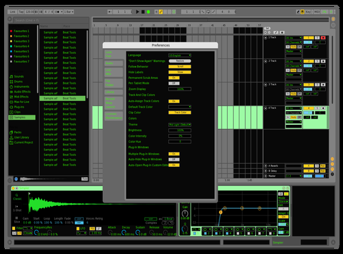 OpGreen1 Theme for Ableton 10 by Nauj