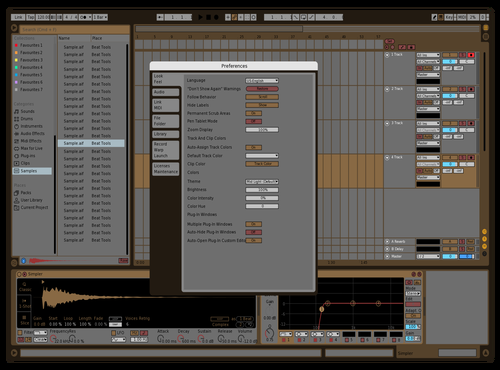 Brown Theme for Ableton 10 by bryce monroe
