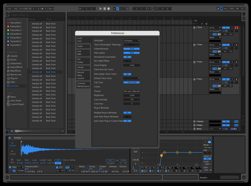 Dark Blue Theme for Ableton 10 by Nick