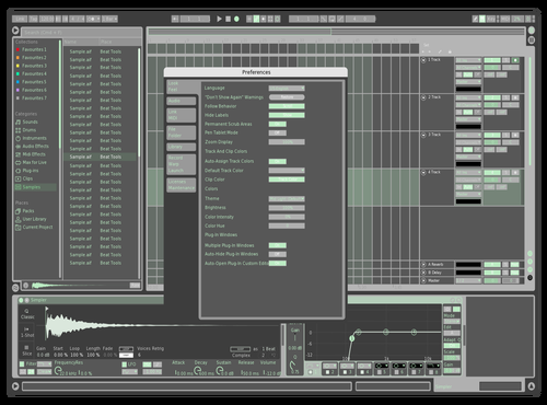 Mint city Theme for Ableton 10 by EZATO