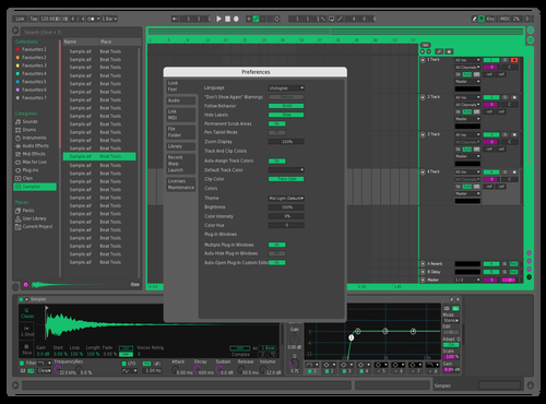 Green Remodel Theme for Ableton 10 by Jacob