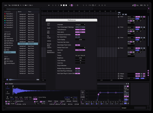 Purplyy Theme for Ableton 10 by Not Reaver alt