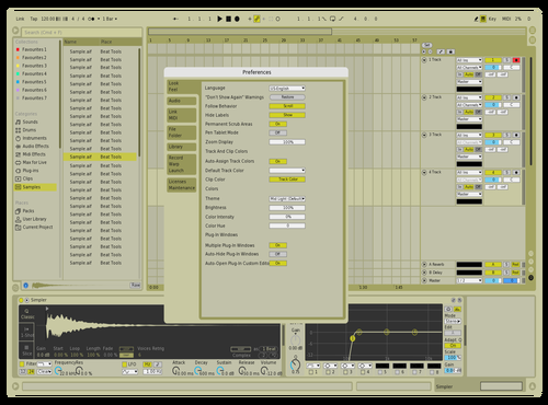 Cream of the crop Theme for Ableton 10 by Manny