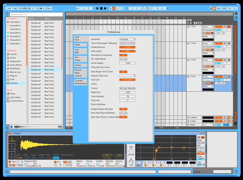 Clear and color Theme for Ableton 10 by IDGI