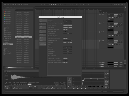 Grey AREA Theme for Ableton 10 by DVLSPLY