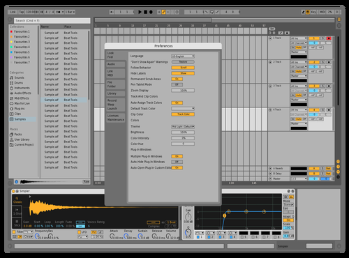 Blue Theme for Ableton 10 by Juan