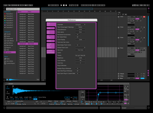 Purple Blue Theme for Ableton 10 by Paul Matthew