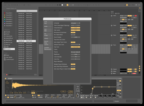 Yellow Grey Theme for Ableton 10 by Raffi