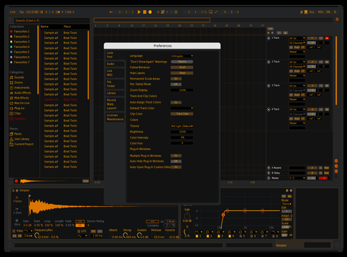 Amber Theme for Ableton 10 by Paul Vogel