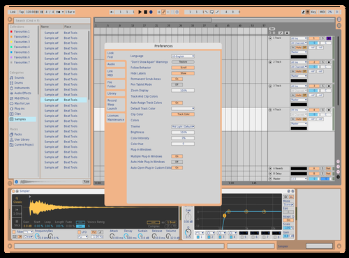 Peachy Theme for Ableton 10 by ddd