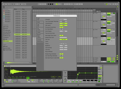 Green Lab 2.0 Theme for Ableton 10 by Lukasinator