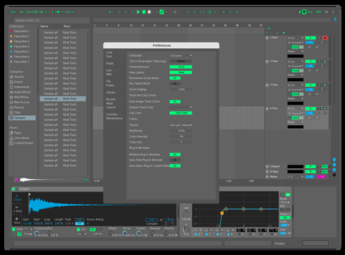 BOYSRUS MID-GRAY/GREN-BLUE THEME Theme for Ableton 10 by kurd zwed