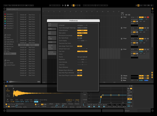 FLAT FOCUS Theme for Ableton 10 by c