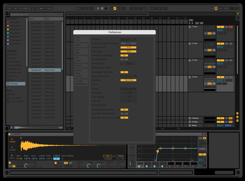 Darker Theme Theme for Ableton 10 by Dana