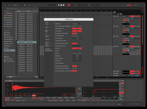 At Night Theme for Ableton 10 by Marco