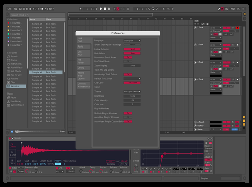 Mid Dark Tweaked Theme for Ableton 10 by Saouke