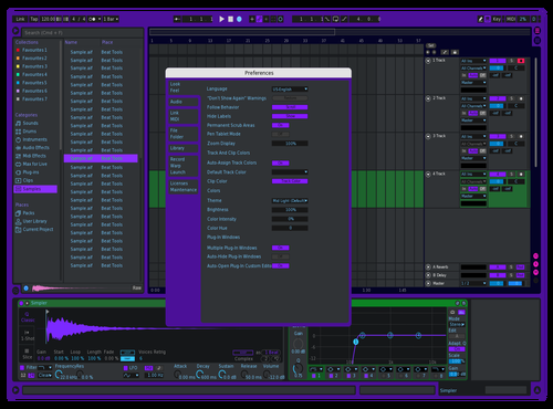 VWave Mod Purp Theme for Ableton 10 by vander