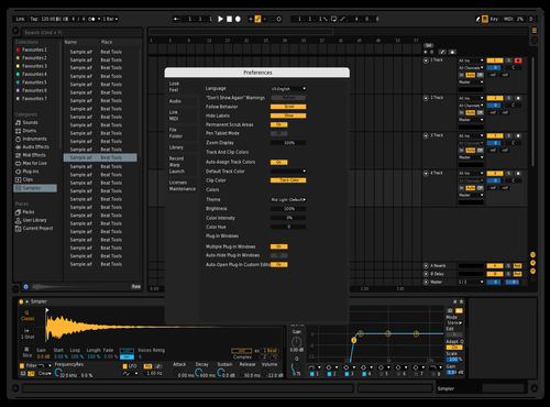 Default Dark but better Theme for Ableton 10 by Reaver