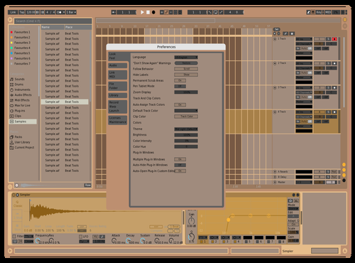 Sand Theme for Ableton 10 by Donald Gordon