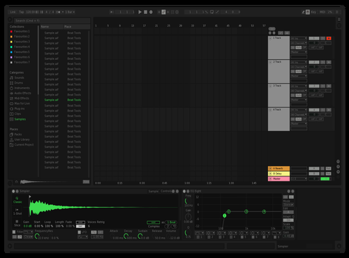 Spotify UI Theme for Ableton 10