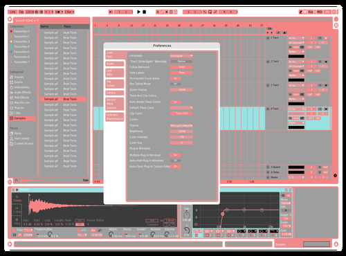 ALTER Theme for Ableton 10 by Alex Higley