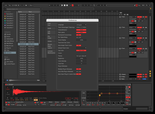 Dark Alte Theme for Ableton 10 by Nikos