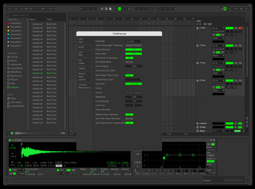 Spotify Fixed Loop Color Theme for Ableton 10 by Matt Lashbrook