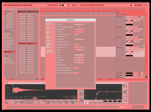V DAY Theme for Ableton 10 by Evan Ryder