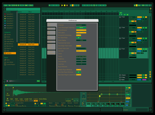 GREENBAY Theme for Ableton 10 by Acutuslux