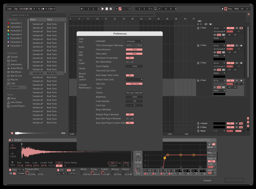 Strawberry Theme for Ableton 10 by Linus Ferris