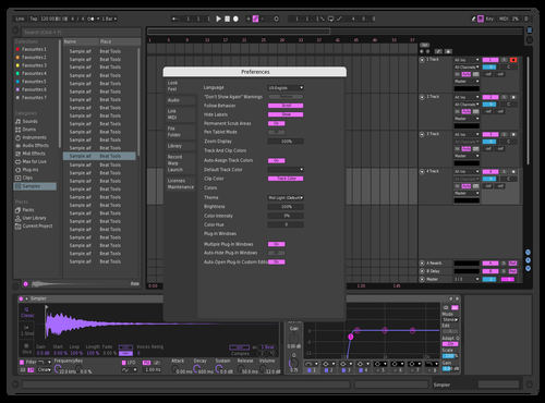 Purpel'n'blue Theme for Ableton 10 by Matthew