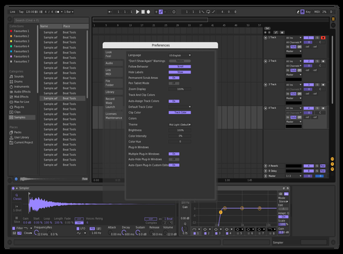 Dark (Customized) Theme for Ableton 10 by Gabe
