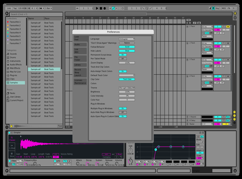 Bluepink Theme for Ableton 10 by joram