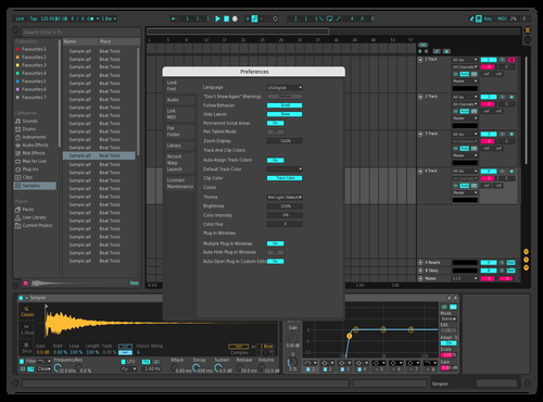 Dark Rum1che 01 Theme for Ableton 10 by Brayan Rumiche