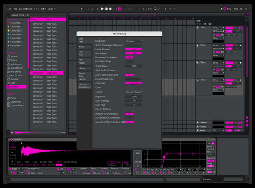 Shade Of Hot Pink Theme for Ableton 10 by Paul Matthew