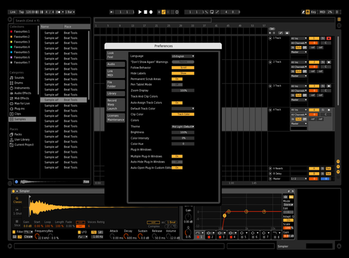 Black Theme for Ableton 10 by Harshness