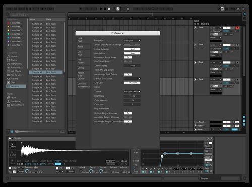 Minimaldark Theme for Ableton 10 by ppperson
