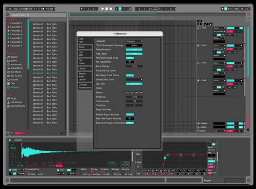 Retro Vibe Light Theme for Ableton 10 by Travis