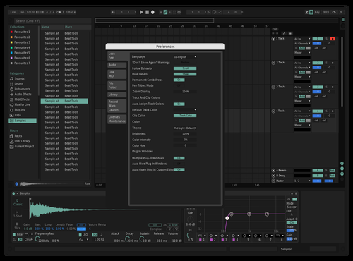 Minty Fresh Theme for Ableton 10 by Frank