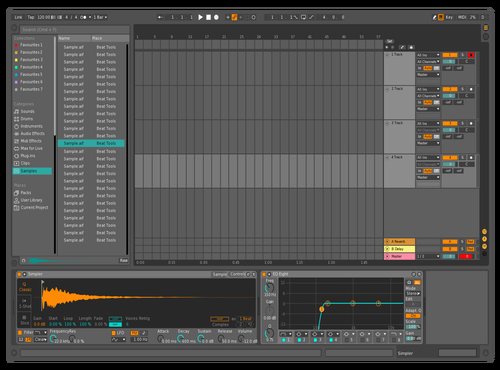 Orange and aqua Theme for Ableton 10 by FM