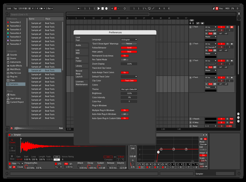VR Red Skin Theme for Ableton 10 by Helix Music