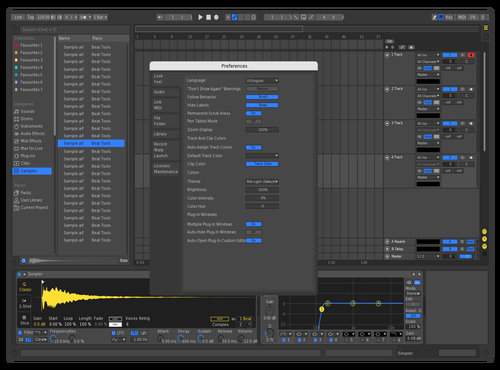 Blue & Yellow Theme for Ableton 10 by Kamu
