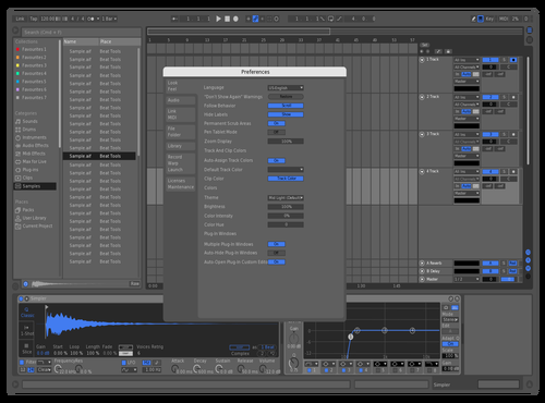 DZBLUE Theme for Ableton 10 by DZ